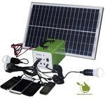 Portable 30w Solaranlage mit Akku