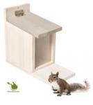 Eichhörnchen Feeder Haus weis cottage 27x23x12,5cm