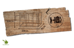 Woodland hühnerhäus hennie classic 183x78x104CM