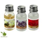 Ölbrenner mit 3x10ml Duftöl Rose, Vanille, Lavendel