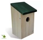 Vögelhaus mit schief Dach (Grün)