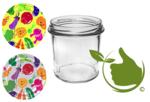Marmeladengläser 346 ml mit twist-off deckel (cartoons) pro 6 Stück