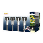 4 LED solar tuinlampen met steekpin en afstandsbediening - IP44