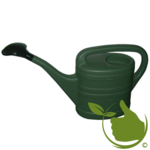 Gießkanne mit Sprühkopf 10 Liter grün