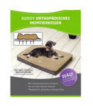 Orthopädisches Hundekissen 72x50x8cm Braun/Beige