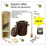 Starter set Sauerkraut making 15 liters (brown classic)