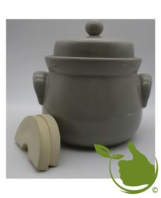Mini-Gärtopf latte mit Deckel und Steinen 2Ltr.