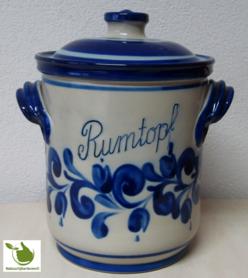 Rumtopf mit Blau-Grau motiv 5 Liter