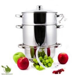 Edelstahl Dampfentsafter 8 Liter mit Schlauch + Klemme Fruchtentsafter
