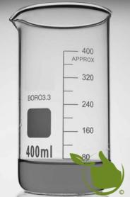 Becherglas 400 ml graduiert,hohes Modell hitzebeständig