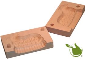 Butterform eckig für 150g Butter – Motiv: Lamm