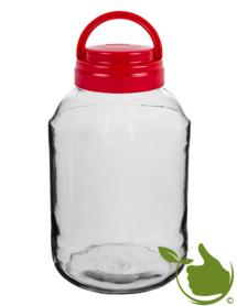 Glastopf 3 Liter inkl. Deckel mit Griff