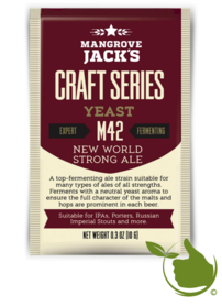 Trocken Bierhefe New World Strong Ale M42 - Mangrove Jack's Craft Series - 10 g