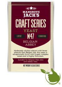 Trocken Bierhefe Belgian Abbey M47 - Mangrove Jack's Craft Series - 10 g