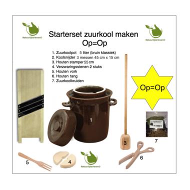 Starter-Set Sauerkraut, 5 Liter (braun classic)