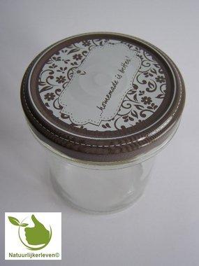 Marmeladengläser 346 ml mit twist-off deckel (beschreibbar Design) pro 6 Stück