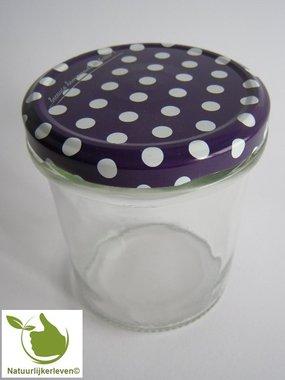 Marmeladengläser 346 ml mit twist-off deckel Violette (dot-design) 6 unit