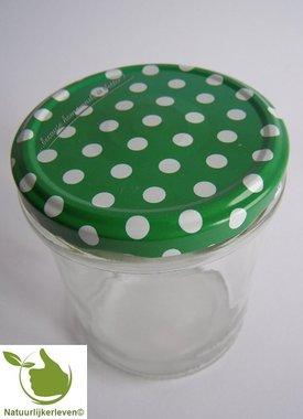 Marmeladengläser 346 ml mit twist-off deckel greun (dot-design) 6 Stück