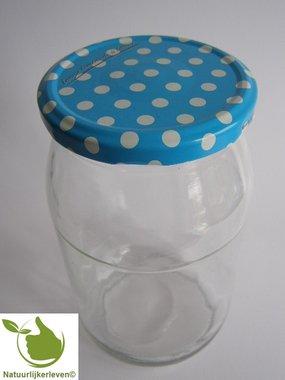 Einmachgläsern 900 ml mit twist-off deckel (Blau-Dots) pro 8 Stück
