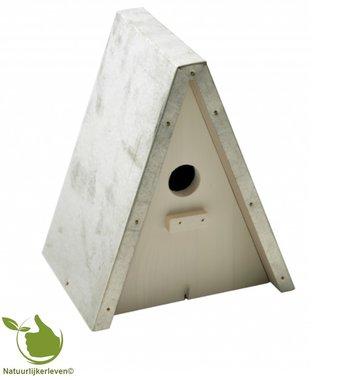 Meise Nistkasten Punktmodell galvanisiert Dach 20x16x23,5cm (weiß)