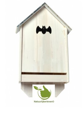Fledermaus Gehäuse galvanisiert Dach 30x10x50CM (weiß)