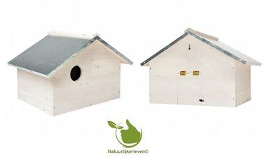 Eichhörnchen-Haus weiß mit einem ZinkDach