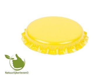 Kronenkork Gelb 26 mm (verpackt pro 100 Stück)