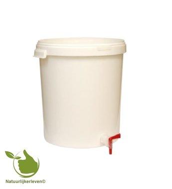 Gärbehälter 30L mit Deckel und Ablasshahn