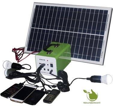 Portable Solar Panel LED-Beleuchtung Set 20w mit Batterie