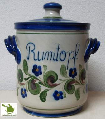 Rumtopf mit Grun-Blau motiv 5 Liter