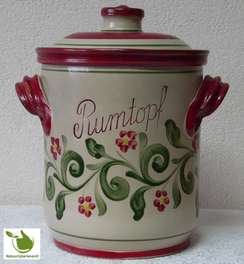 Rumtopf mit Rot-Grun motiv 5 Liter