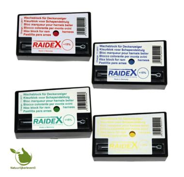 Deckblöcke von Raidex in verschiedenen Farben