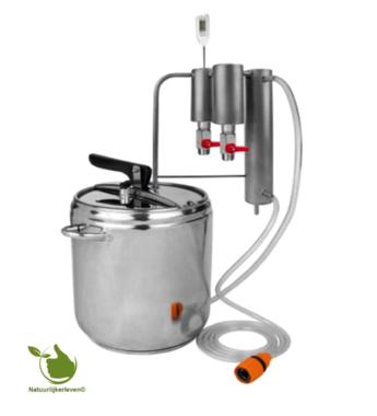 Destillations- und Schnellkochtopf 2in1 12L, Kühler + 2x Dekanter