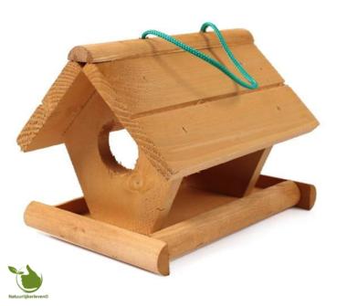 Feeder für Gartenvögel - Holz 21x18x17cm
