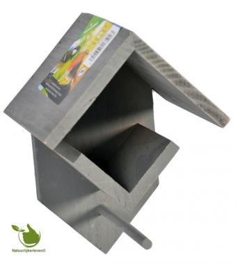 Hölzerner Erdnussbutter / Fett Topfhalter Grau 14x13x19cm
