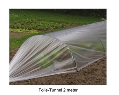 Folie-Tunnel Gewächshäus 2m