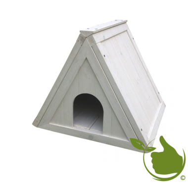 Woodland Triangel Shelter Loft Cottage Weiß 52x42x42cm