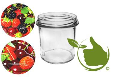 Marmeladengläser 346 ml mit twist-off deckel (fruit-design) pro 6 Stück