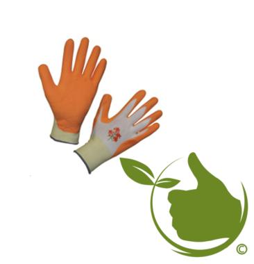 Gartenpflegehandschuh orange mt.8 (uni)