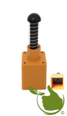 Topfpresse Kunststoff gelb 4x4 cm