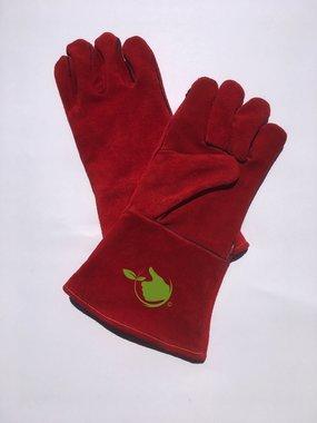 Heiz- / Schweißhandschuh aus rotem Spaltleder