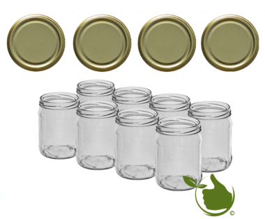 Marmeladengläser 500 ml mit twist-off deckel gold