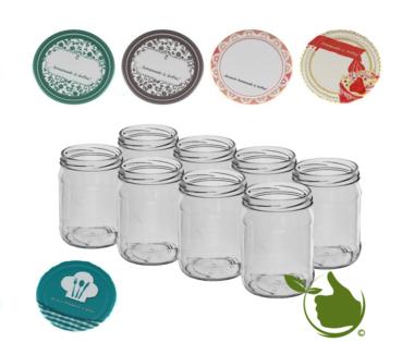 Marmeladengläser 500 ml mit twist-off deckel (beschreibbar Design) pro 8 Stück