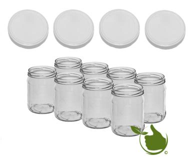 Einmachgläsern 900 ml mit twist-off deckel (Weis) pro 8 Stück