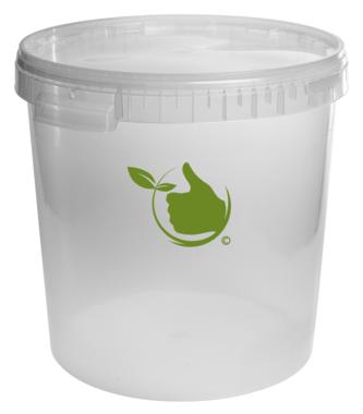 Gärbehälter transparant 30L mit Deckel