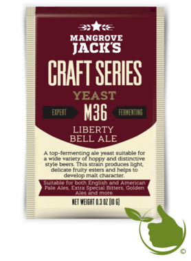 Trocken Bierhefe Liberty Bell Ale M36 - Mangrove Jack's Craft Series - 10 g