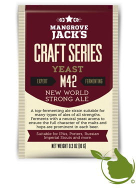 Trocken Bierhefe New World Strong Ale M42 - Mangrove Jack's Craft Series - 10 g