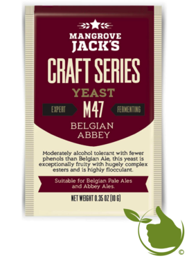 Trocken Bierhefe Belgian Abbey M47 - Mangrove Jack's Craft Series - 10 g
