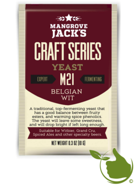 Trocken Bierhefe Belgian Wit M21 - Mangrove Jack's Craft Series - 10 g