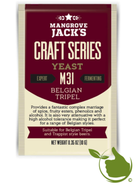 Trocken Bierhefe Belgian Tripel M31 - Mangrove Jack's Craft Series - 10 g